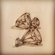 Diamonds Tattoo Sketch By R Tattoo Art Sketches All Pieces