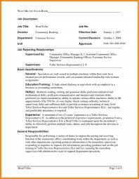 Objective For Resume For Bank Job Bank Teller Objective Resume Resume Examples For Customer Service 89