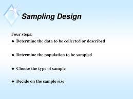 Types Of Sampling Design Ppt Chapter 4 Sampling And Investigating Hard Data