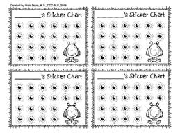 White Incentive Chart Freebie Black White Sticker Incentive Charts 5 Designs