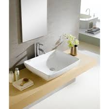 Rectangular Bathroom Sinks Modern Vitreous Rectangular Vessel Bathroom Sink Reviews Allmodern