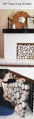 great idea for your fireplace in spring and summer or if its a nonfunctional one