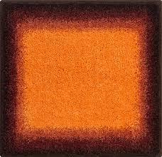 bathroom rugs avalon orange