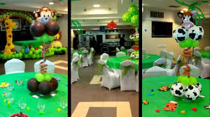 Jungle Theme Decorations Jungle Theme Balloon Decoration Youtube