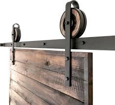 rustic slide barn door closet hardware set 2 roller 10
