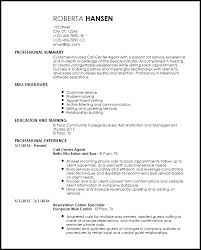 Free Entry Level Call Center Agent Resume Templates Resumenow
