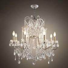 elegant wrought iron crystal chandelier living room lamp hall light home decoration lighting gallery