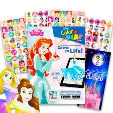 Disney Princess Coloring Book And Sticker Chart Super Set