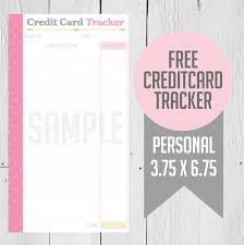 Credit Card Payment Tracker Free Credit Card Tracker Printable Misskatv Organize Debt