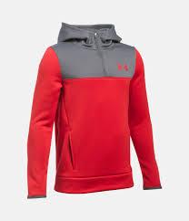 under armour 1 4 zip fleece. red, zoomed image under armour 1 4 zip fleece r