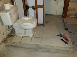 bathroom in basement without breaking concrete can i break up the