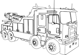 Small Picture Kenworth Wrecker Fire Truck Coloring Page Wecoloringpage