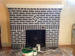 red brick fireplace painting