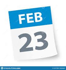 23 De Febrero - Icono Del Calendario Stock de ilustración - Ilustración de  calendario, icono: 127477550