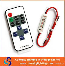rgb led lamps remote control led light controller 11 key led single color dimmer wireless rf remote control led strip by