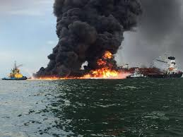 The fire, which burned west of mexico's yucatán peninsula, was. Watch Fire Fighting Crews Battle Pemex Tanker Blaze In Gulf Of Mexico