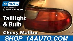 2001 Chevy Malibu Brake Light Bulb How To Replace Tail Light 97 03 Chevy Malibu