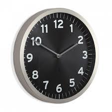 umbra anytime wall clock nickel