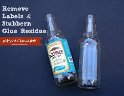 no chemical way to remove glue residue from bottles