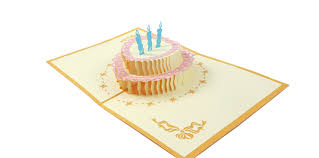 Birthday Cake 3d Greeting Card Paper Pop Cards
