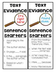 Text Based Evidence Anchor Chart 4 5 Text Evidence Lessons Tes Teach