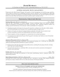 Hotel Manager Resume Samples Hotel Manager Resume Resume Sample For