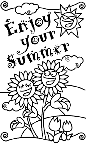 Small Picture Coloring Page Summer Summer Color Pages Free Pages nebulosabarcom