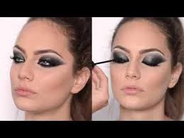 tutorial black silver arabic smokey eyes with gel liner technique emese backai makeup trainer