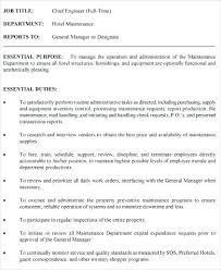 Sample Hotel Engineer Resume Administrativelawjudge Info