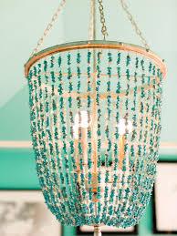 elegant turquoise beaded chandelier of ethan allen
