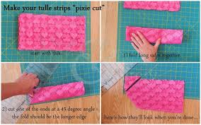 pixie cut tulle strips