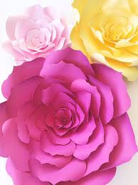 Pattern For Paper Flower Paper Flower Template Diy Paper Flower Pattern Paper