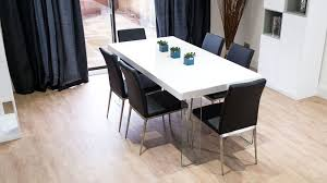 black and white gloss dining set