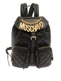 Moschino Lettering Quilted Leather Backpack | Where to buy & how ... & ... Moschino Lettering Quilted Leather Backpack ... Adamdwight.com