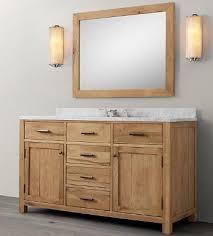 wood bathroom vanity. WNUT01-55 Wooden Bathroom Vanity In Light Walnut Color Wood