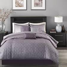 phenomenal purple and grey comforter sets king ecrins lodge new
