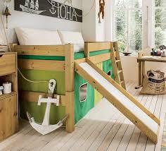 Kinderbett etagenbett hochbett mit schubladen und matratzen. Hochbett Mit Rutsche Fur Das Kinderzimmer