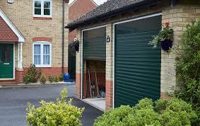 fir green aluminium roller garage doors