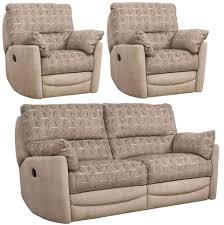 fabric recliner sofa. Buoyant Metro 3+1+1 Seater Fabric Recliner Sofa Suite 7