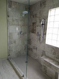 shower glass partition installed