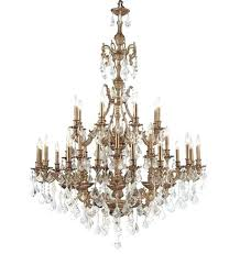 antique brass crystal chandelier vintage
