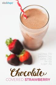 recipe 1 scoop strawberry idealshake 1 cup unsweetened