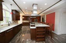 cherry cabinets with wood floors