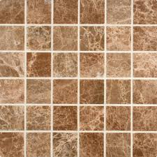 Light Emperador Marble emperador light marble tile 22 polished square mosaic tilestime 4044 by uwakikaiketsu.us