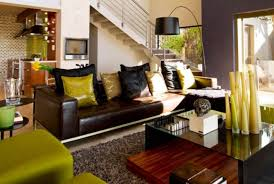 living room decor black and green leather sofa throw pillow stand lamp glamorous furniture amusing african themed furniture