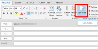 How To Create And Use Email Signature In Outlook 2013