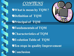 welcome presentation t q m prepared by farid shaikh on ppt contens what is mean by tqm