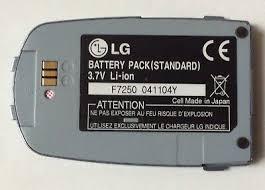 Genuine LG Battery BSL-65G 3.7V F7250 ...