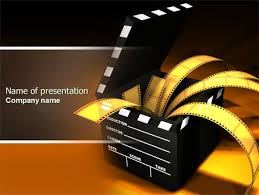 Movie Powerpoint Template Movie Clapper Free Presentation Template For Google Slides