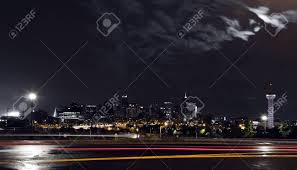 Downtown Denver Lights Dark Night View Of The Downtown Denver Colorado Skyline With